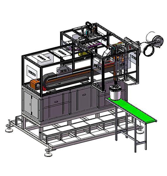 侧入式IML模内贴标系统